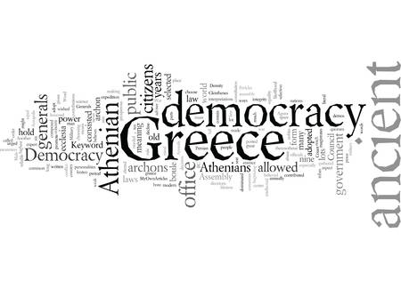 democracy in ancient greece Illustration