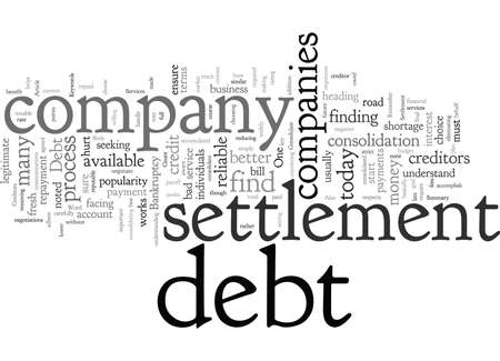 Consolidate Debt With Debt Settlement Services 일러스트