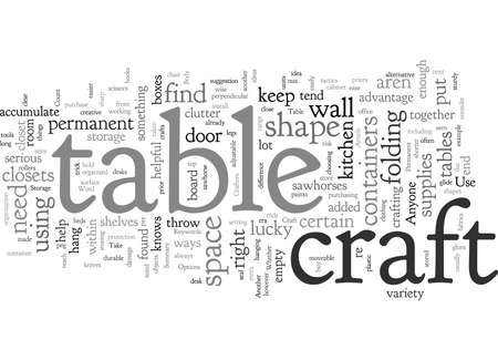 Craft Table And Storage Options For Crafters