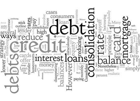 Consolidate Credit Card Debt Best Way To Reduce Debts Ilustração