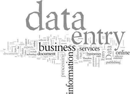 Data entry business Illustration