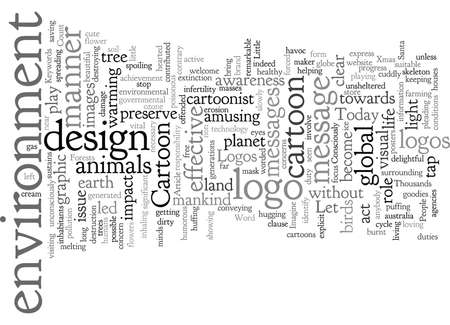 Convey environment concerns through cartoon logo