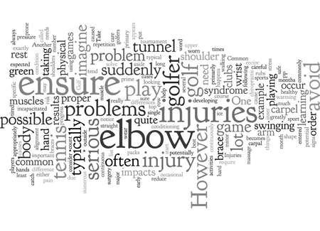 Common Golf Injuries Vettoriali