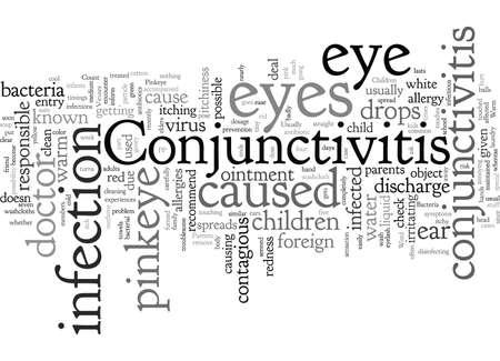 Conjunctivitis or Pinkeye in Children Vetores
