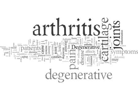 Degenerative Arthritis 向量圖像