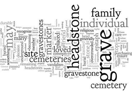 Common Options for a Grave Headstone Иллюстрация