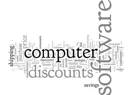 Computer Software Discounts