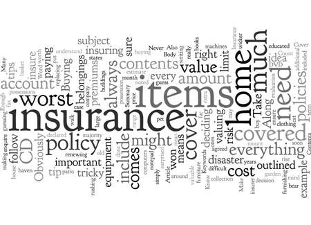 Contents Insurance How Do I Know If I Have Enough Cover 向量圖像