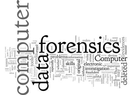 computer forensics problems Ilustrace