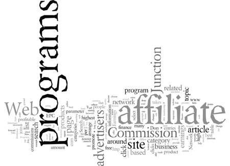Design Web Site Around Affiliate Programs Illustration
