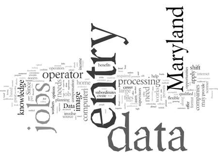 data entry jobs in Maryland