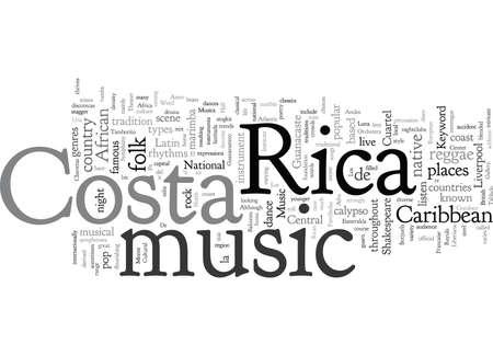 Costa Rica Music Ilustração
