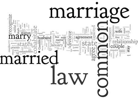 Common Law Marriage Иллюстрация