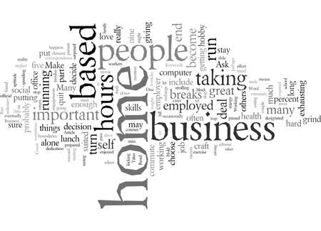 Do You Have What It Takes To Run A Home Based Business part One