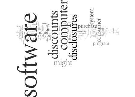 Disclosures On Software Discounts Vektoros illusztráció