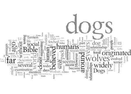 Orígenes de los perros ¿De dónde vienen los perros? Ilustración de vector