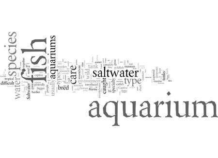 Different Types of Saltwater Aquariums Banque d'images - 132110562
