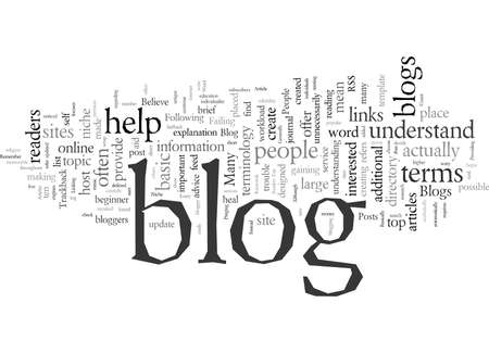 Dictionary Of The Top Ten Terms In Blogs 写真素材 - 132110540