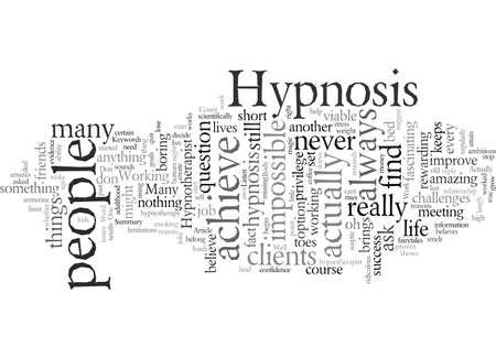 Does Hypnosis Work Stock Illustratie