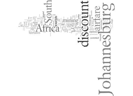 Discount Airfare To Johannesburg Experience Africa At An Affordable Cost Stock Vector - 132110597