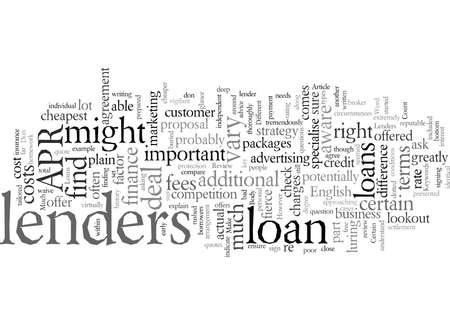Do Loans Change Much Between Different Lenders 矢量图像