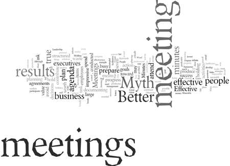 Do These Myths Make Your Meetings Miserable Banco de Imagens - 132095947