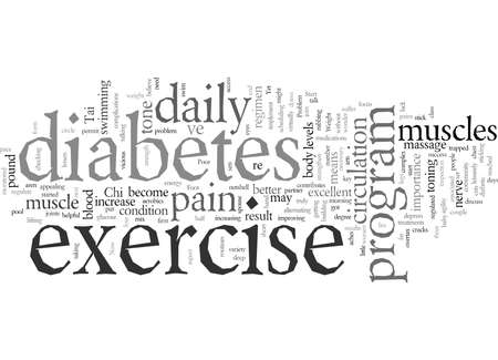 diabetes exercise Stock Illustratie