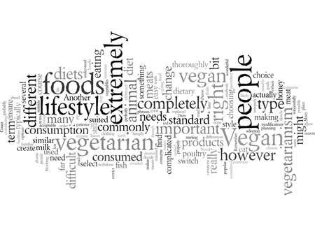 Diets Similar to Veganism Stock Illustratie