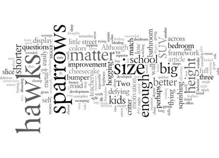 Does size matter Illustration