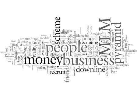 Desventajas de un modelo de negocio de MLM Ilustración de vector