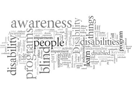 disability awareness Stock Illustratie