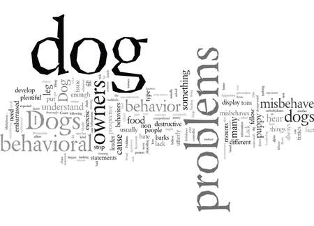 Dog Behavior Problems Help My Dog is a Nuisance When He Misbehaves Stock Illustratie
