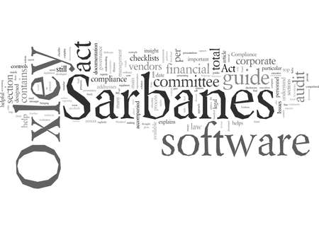 Does Software Solve Sarbanes Oxley Compliance Issues Çizim