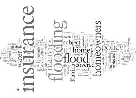 Ai-je besoin d'une assurance contre les inondations Vecteurs