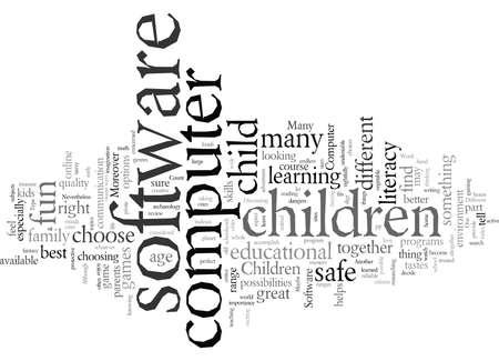 Verschillende soorten computersoftware voor kinderen