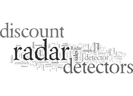 Discount Radar Detector Guide 向量圖像