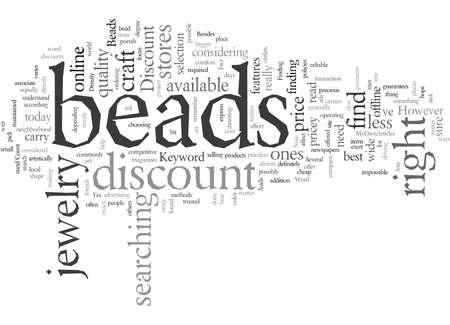 Discount Beads  イラスト・ベクター素材