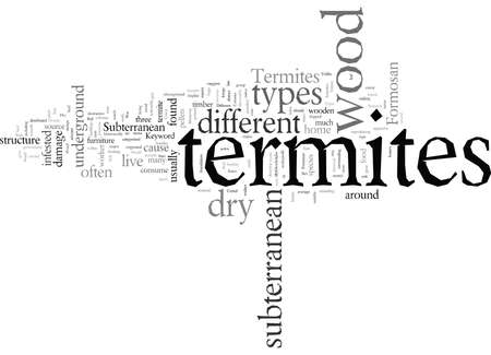 Different Types of Termites Иллюстрация