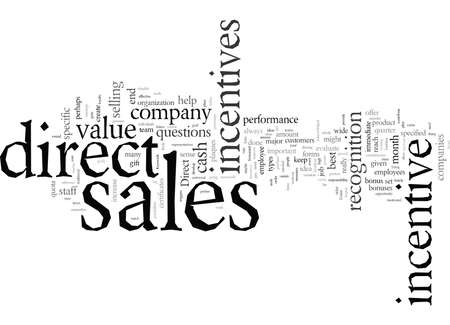 Direct Sales Incentives