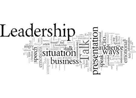 Don t Give Presentations Or Speeches Give Leadership Talks Instead