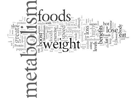 ¿Tiene un metabolismo lento que ayude a acelerar su metabolismo? Ilustración de vector