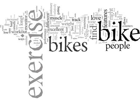 Exercise Bikes How Far They Have Come typography text art vector illustration Çizim