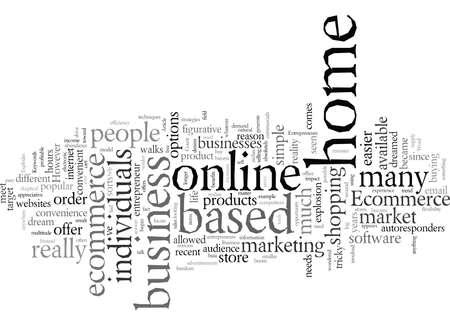 Le commerce électronique explose pour les entrepreneurs d'affaires à domicile typographie texte art illustration vectorielle