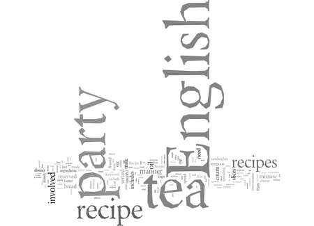 English Tea Party Recipe typography text art vector illustration