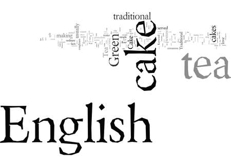 English Tea Cake typography text art vector illustration