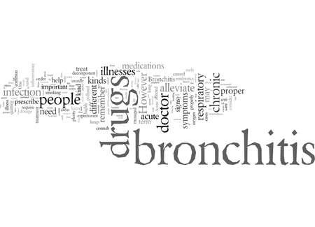 drug for bronchitis typography text art vector illustration Ilustração