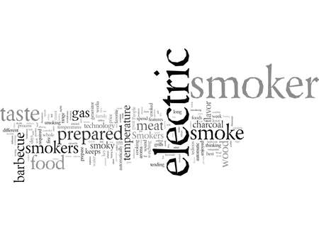 Electric Smokers typography text art vector illustration Ilustrace