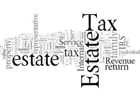 Estate Tax typography text art vector illustration Иллюстрация
