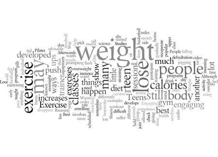 exercise loss teen weight typography text art vector illustration