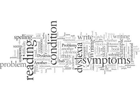 Sintomi di dislessia tipografia testo arte illustrazione vettoriale